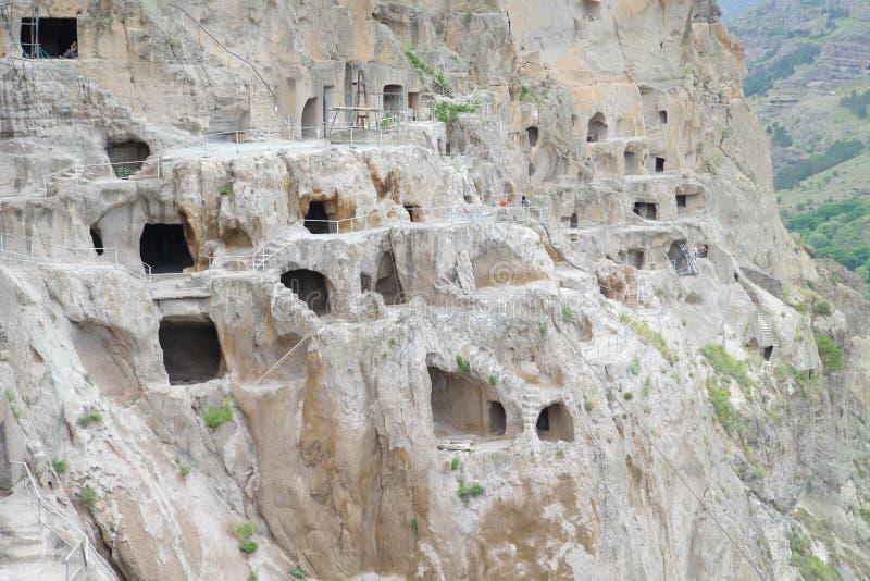 Vardzia Gruzja Meskheti jama monaster Tamar i Rustaveli obrazy royalty free