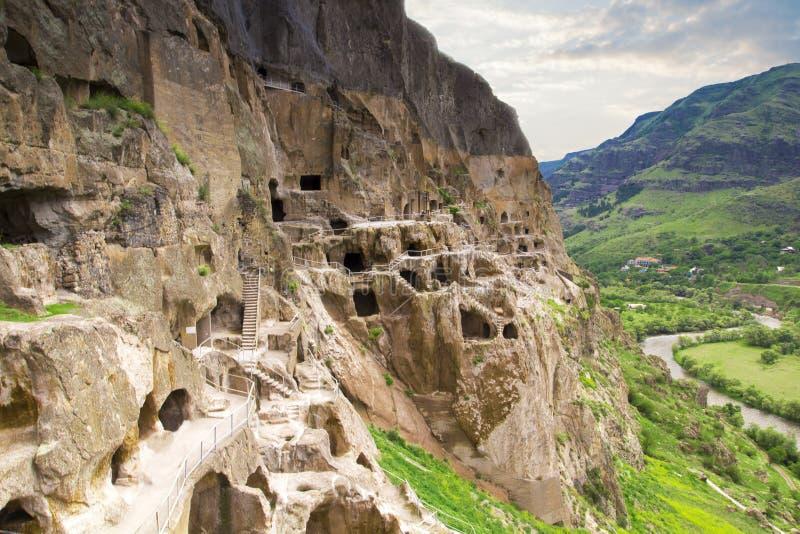Vardzia-Höhlenkloster im Erusheti-Berg in Georgia lizenzfreies stockfoto