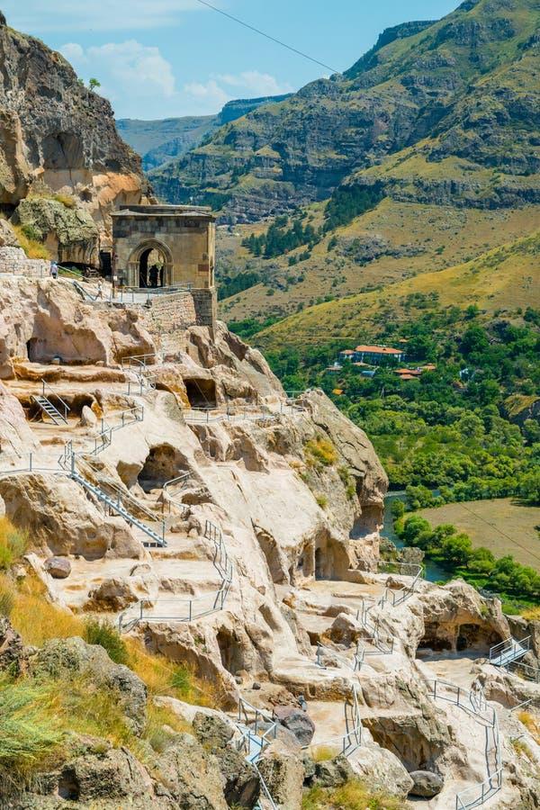 Vardzia jamy monasteru świątynia, Lesser Kaukaz, Gruzja, Azja fotografia royalty free