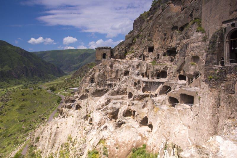 Vardzia jamy monasteru kompleks Gruzja obrazy royalty free