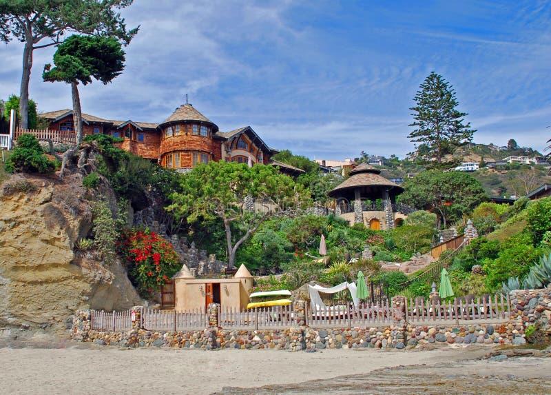 Vare a casa en Victoria Beach, Laguna Beach, CA foto de archivo