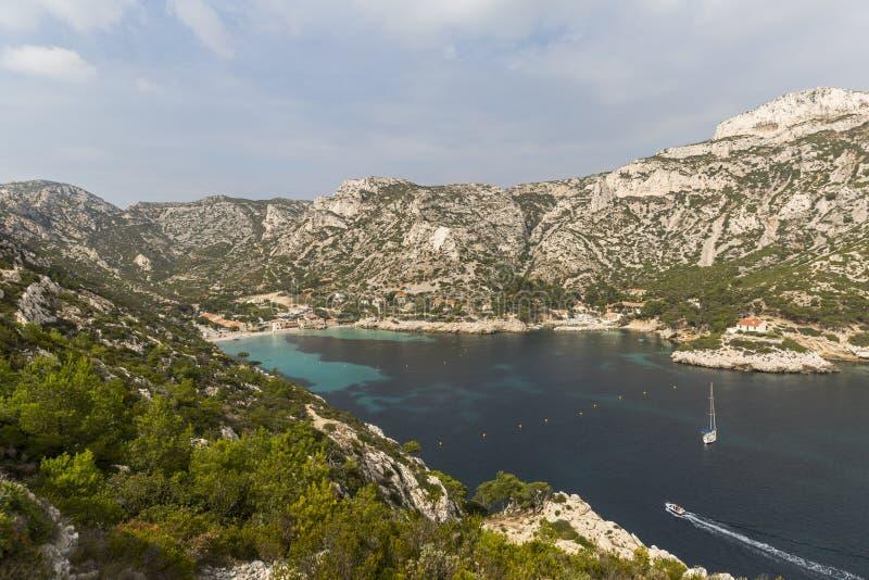 Vare en el parque nacional de Calanques en la costa meridional de Francia fotos de archivo