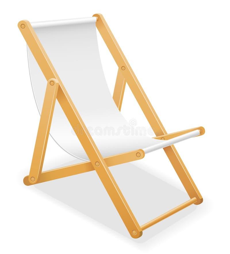 Vare la silla de cubierta hecha del illustrati común del vector de madera y de la tela ilustración del vector