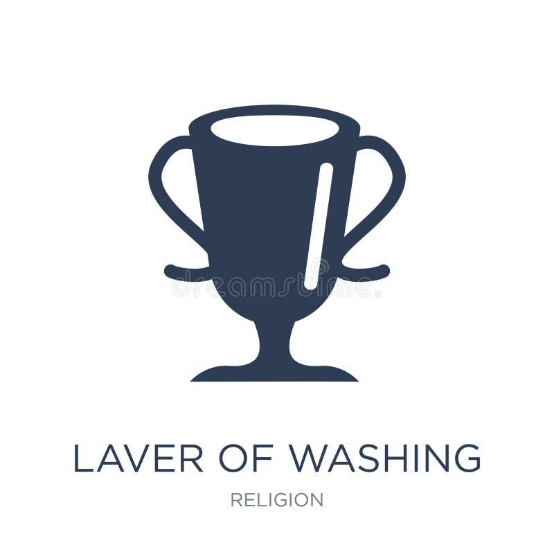 Varec del icono que se lava  stock de ilustración