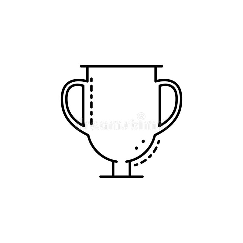 Varec del icono que se lava Elemento del icono judío para los apps móviles del concepto y del web La línea fina varec de icono qu ilustración del vector