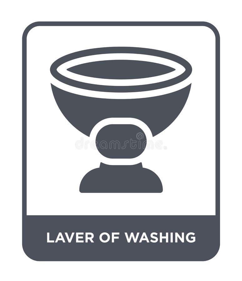 varec del icono que se lava en estilo de moda del diseño varec del icono que se lava aislado en el fondo blanco varec del icono d stock de ilustración