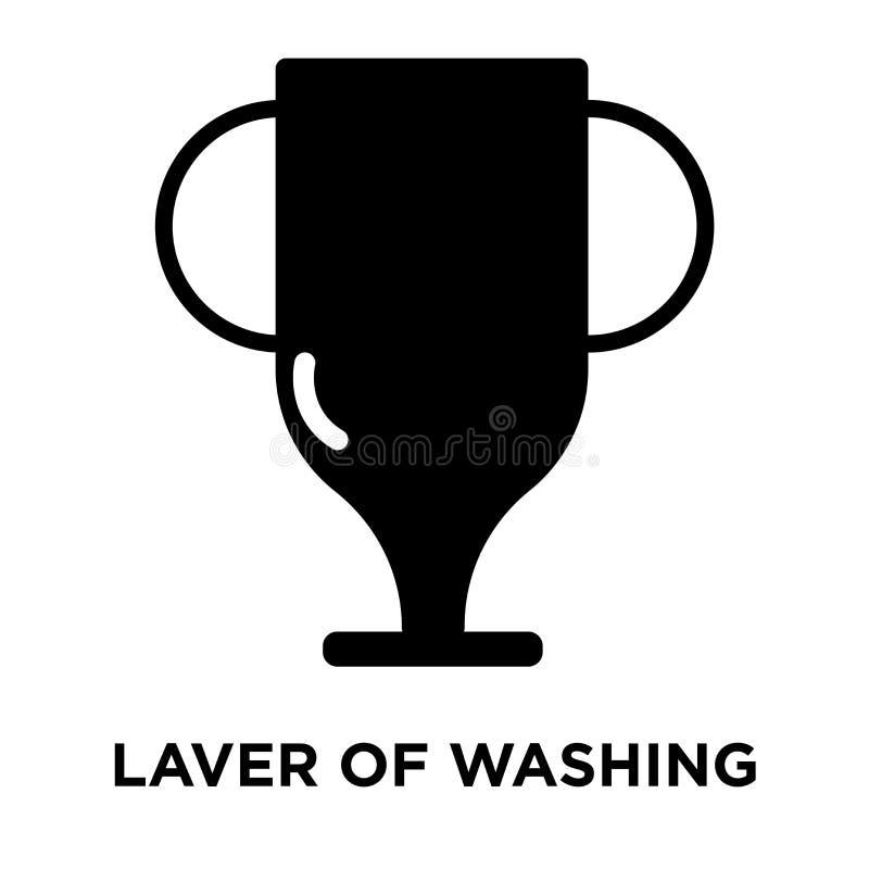 Varec del vector del icono que se lava aislado en el fondo blanco, logotipo stock de ilustración