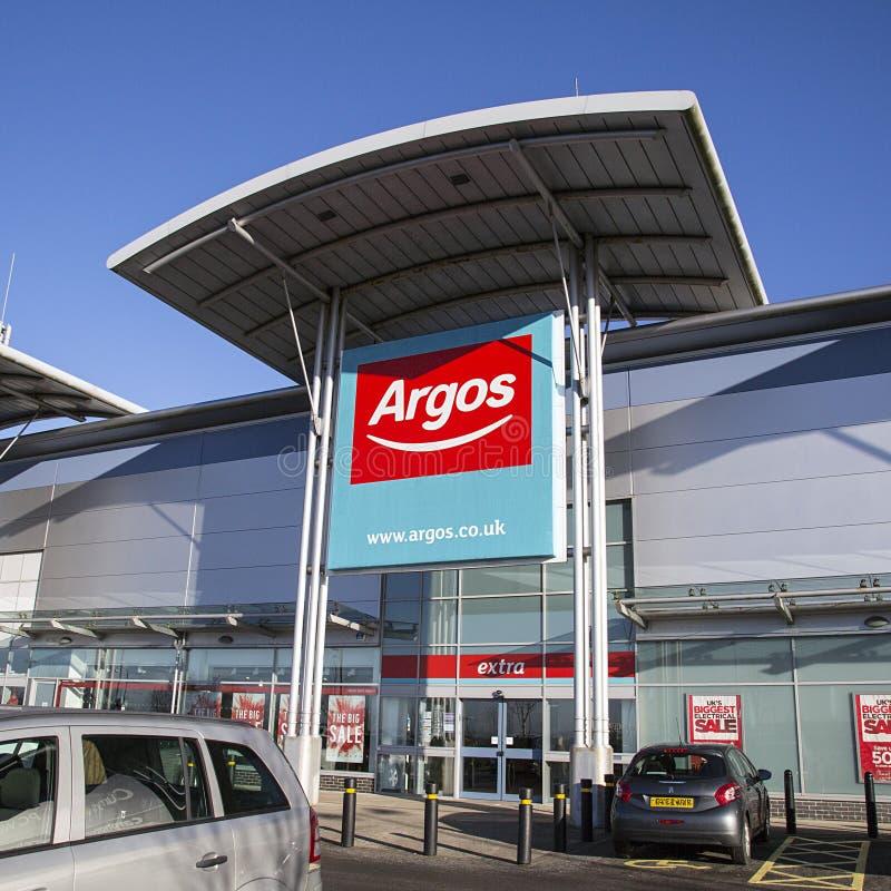 Varejista do catálogo de Argos fotos de stock royalty free