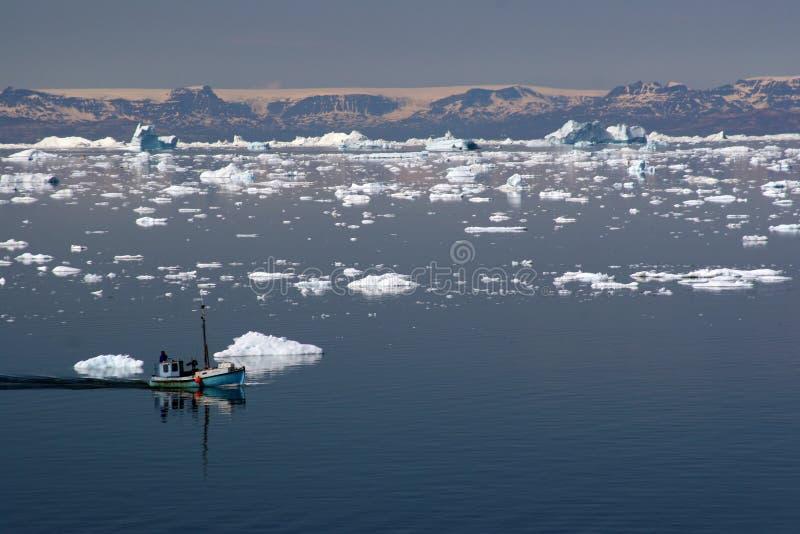 Varend in de Baai van de Disco, Ilulissat stock fotografie