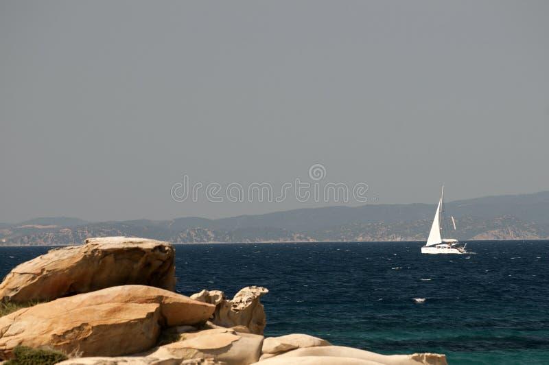 Varend jacht Griekenland royalty-vrije stock foto's