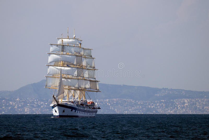 Varend schip royalty-vrije stock afbeelding