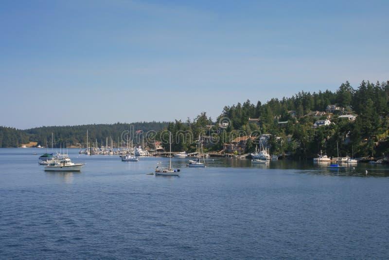 Varende boten in Puget Sound royalty-vrije stock afbeelding