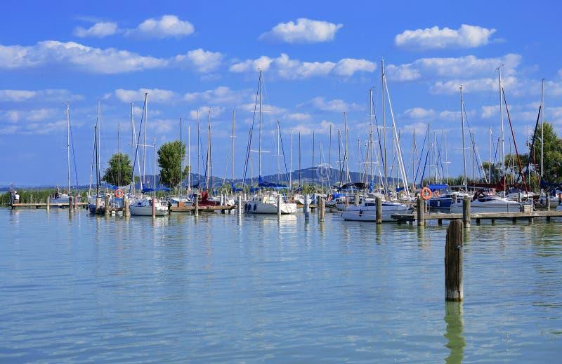 Varende haven bij Meer Balaton, Hongarije royalty-vrije stock afbeeldingen