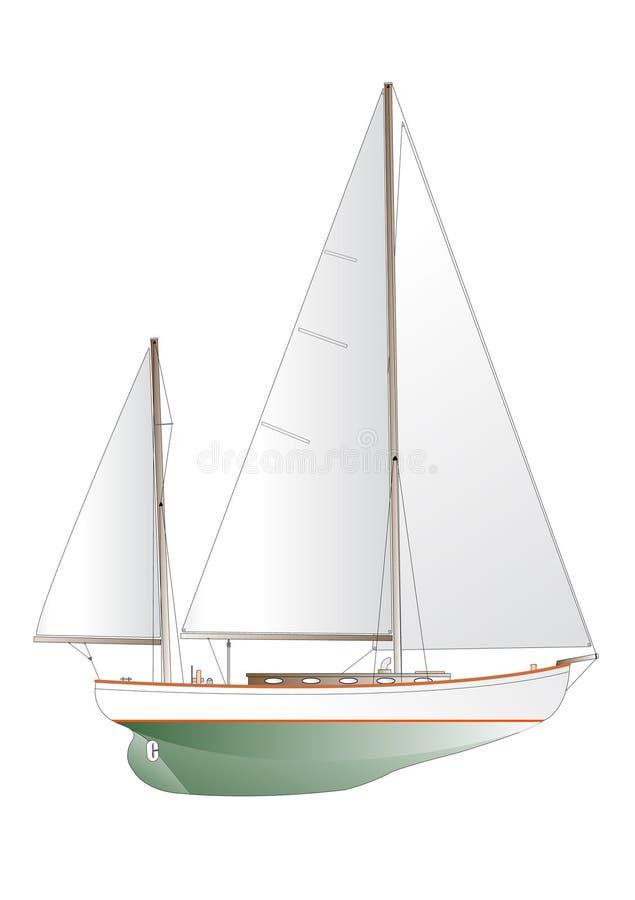 Varende jachtillustratie stock illustratie