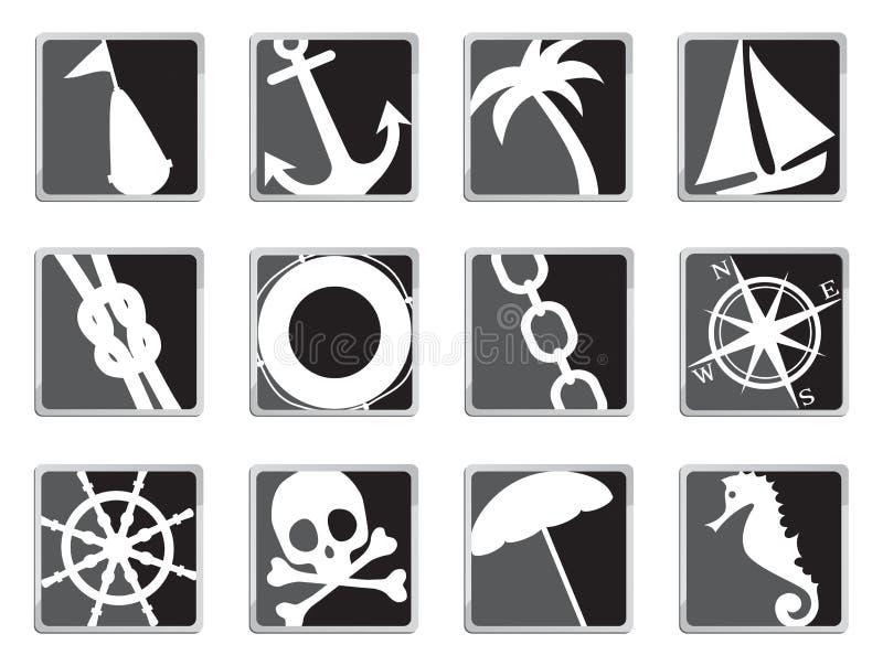 Varende pictogrammen stock illustratie
