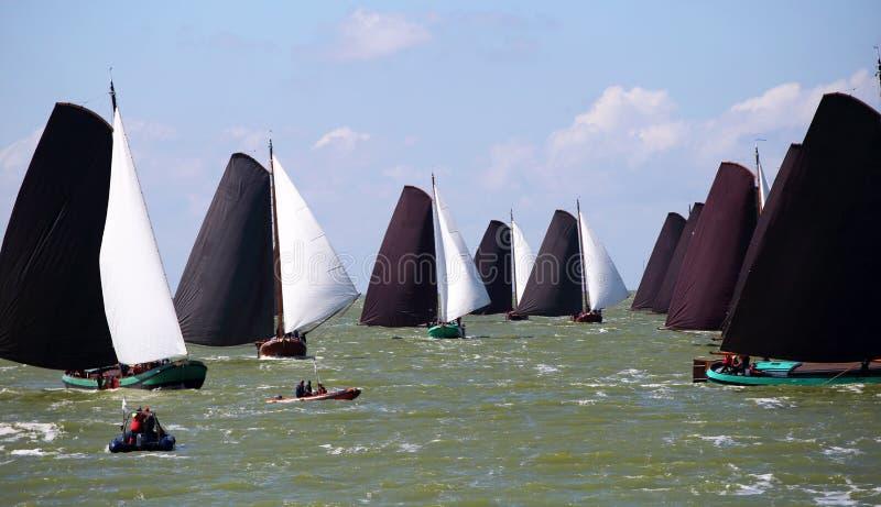 Varende schepen in de jaarlijkse concurrentie royalty-vrije stock fotografie