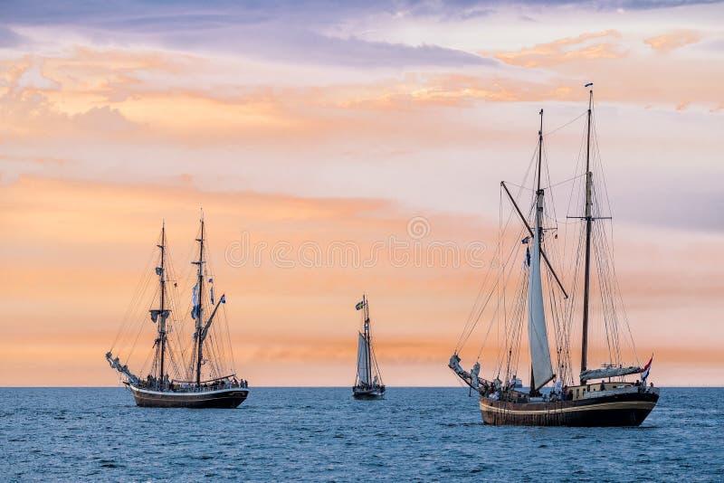 Varende schepen op de Oostzee royalty-vrije stock foto