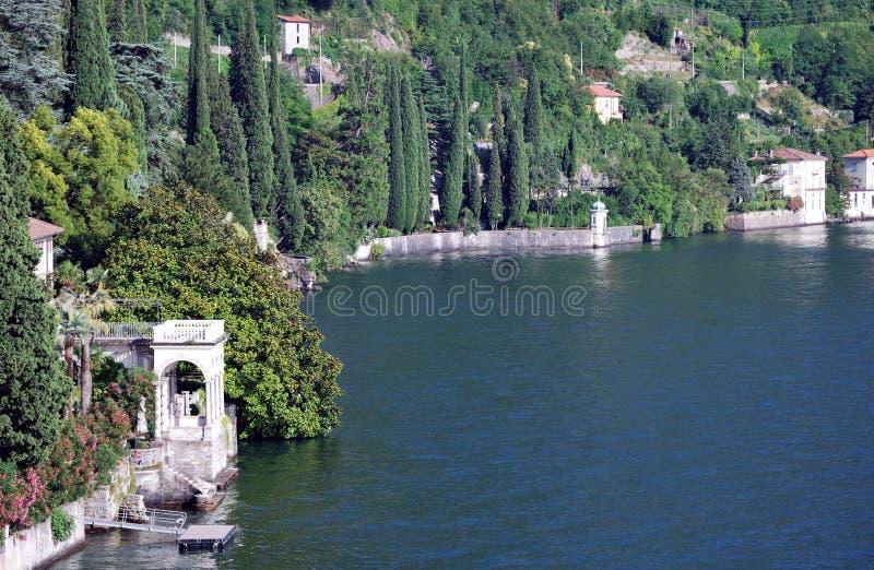Varenna, botanische tuin, lago Di como, Italië stock afbeeldingen