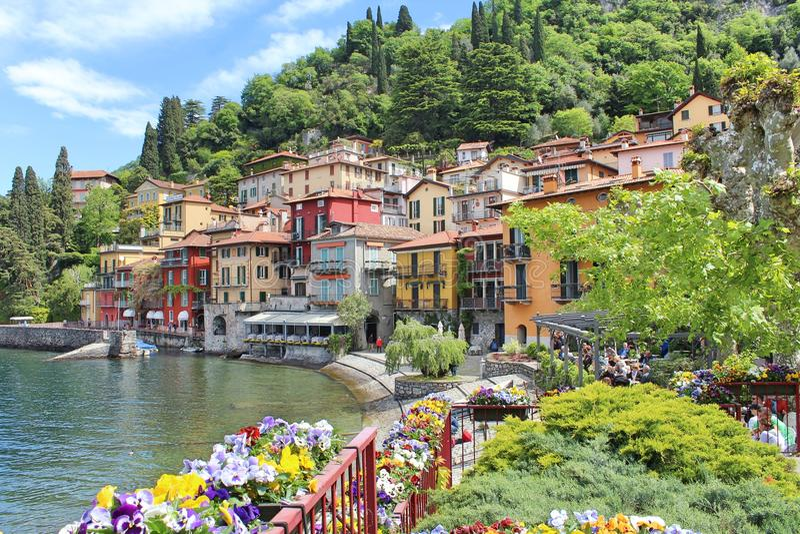 Varenna, Italien stockfotografie