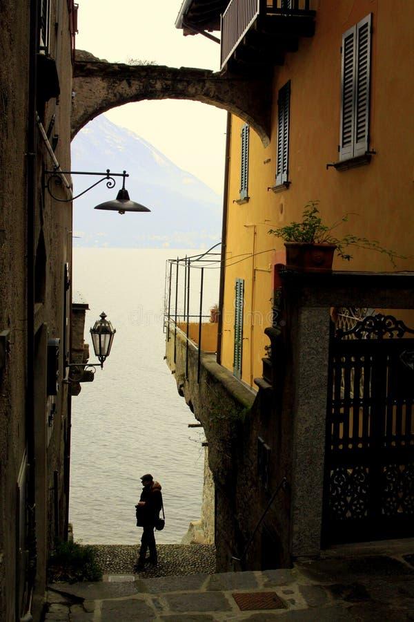 Varenna, lago Como immagini stock libere da diritti