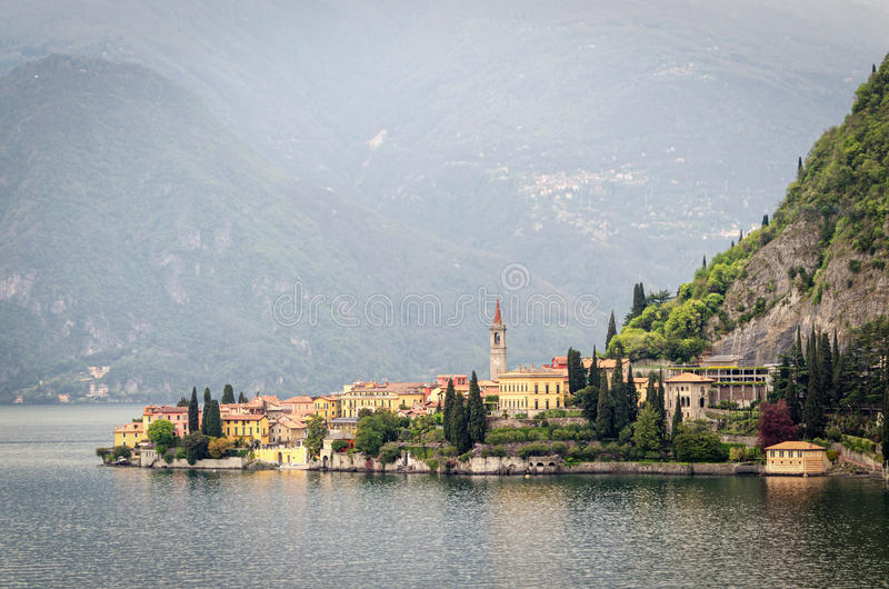 Varenna Lago di Como. And landscape stock images