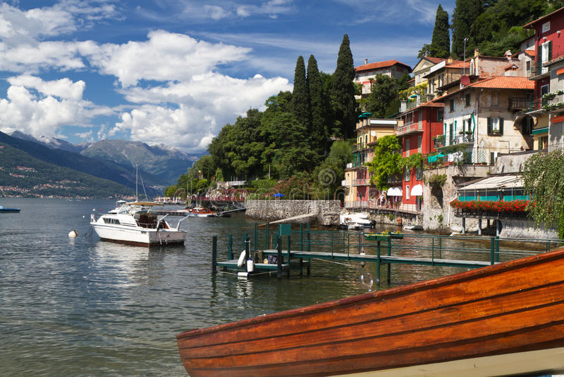 Varenna at lake Como in Italy royalty free stock photography