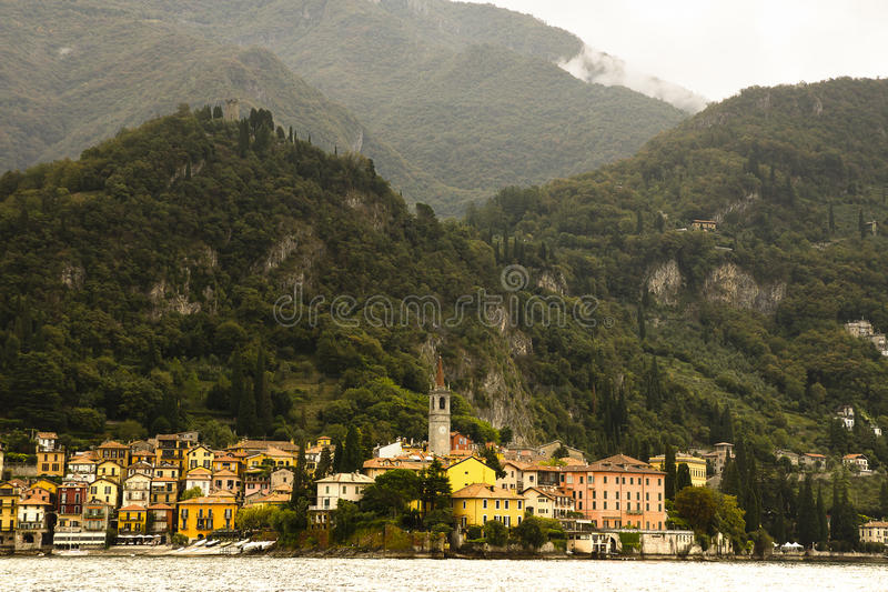 Varenna from Lake Como, Italy stock photos