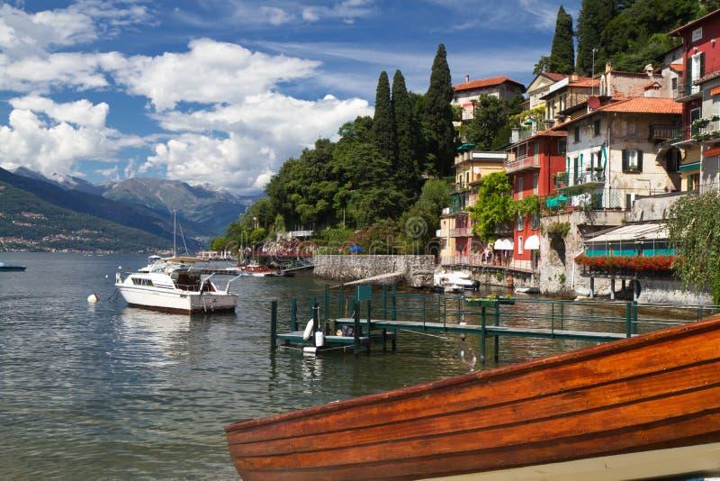 Varenna nel lago Como in Italia fotografia stock libera da diritti