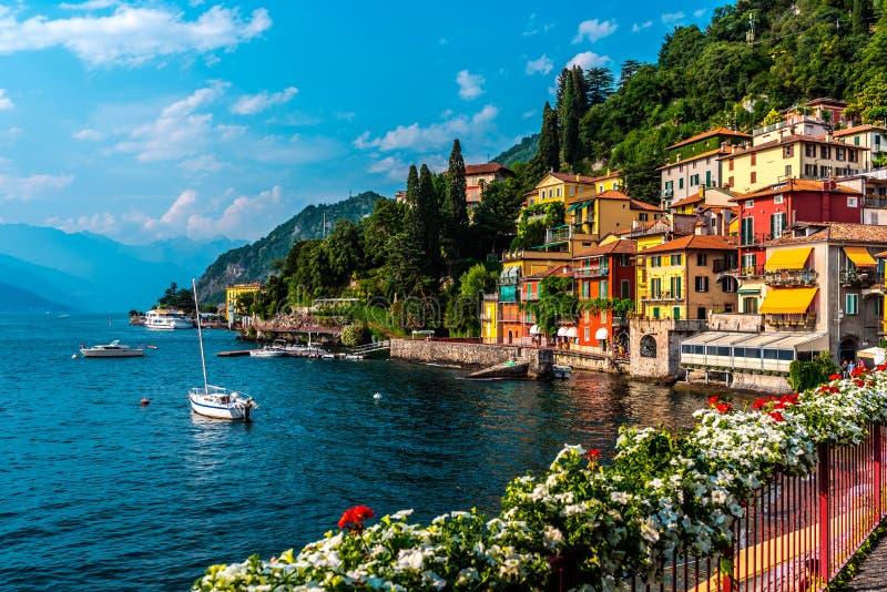 Varenna, small town on lake Como, Italy royalty free stock image