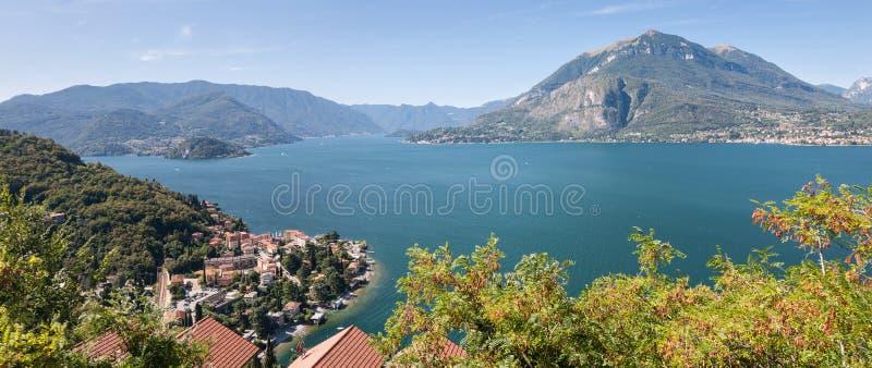 Varenna y el lago Como imagen de archivo libre de regalías