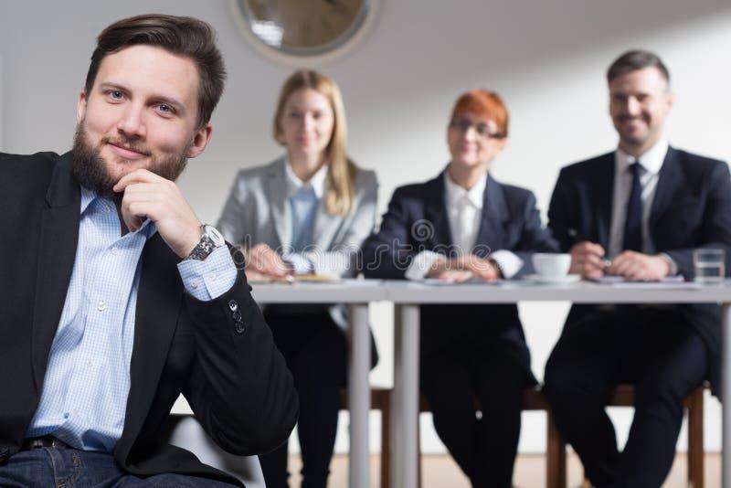 Varför önskar du att arbeta i vår korporation? royaltyfri foto