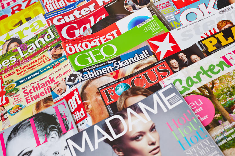 Variété allemande de medias photos libres de droits