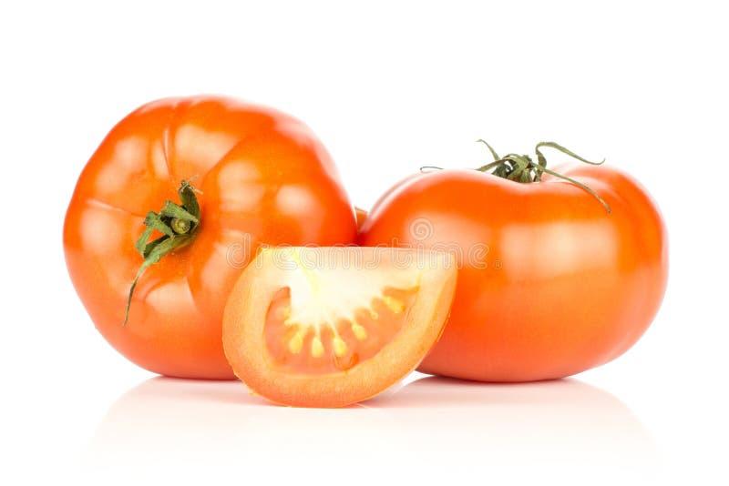 Variété crue fraîche de parcela de La de tomate d'isolement sur le blanc image stock