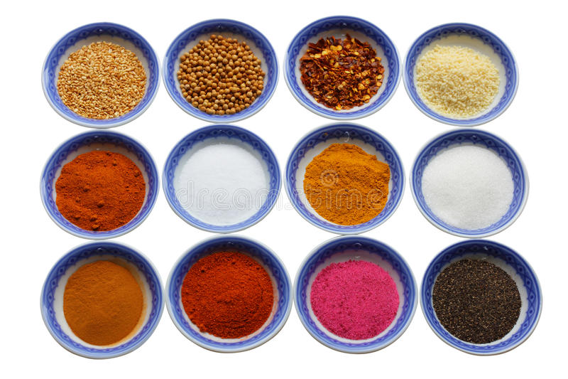 Variété d'épices photographie stock libre de droits