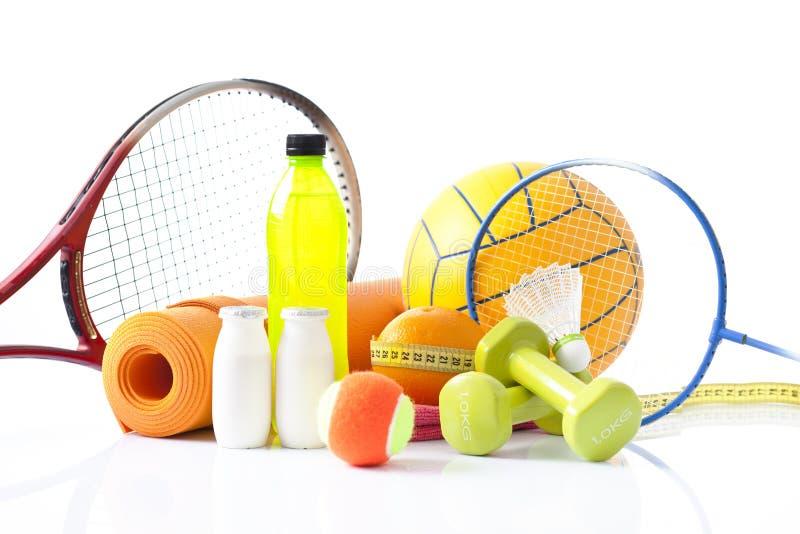 Variété d'article de sport images stock