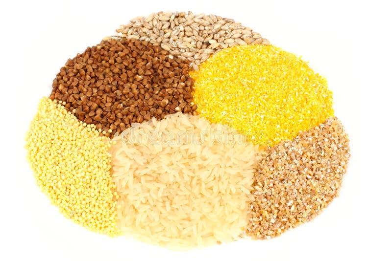 Variété de céréales photos stock