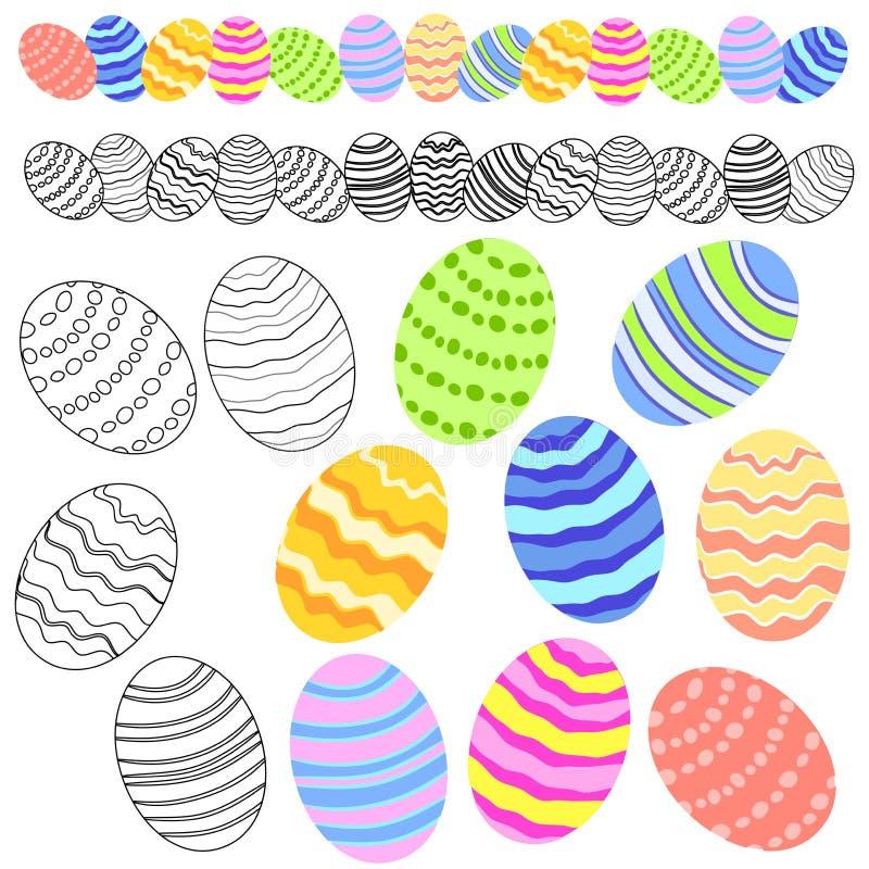 Variété de clipart (images graphiques) d'oeufs de pâques illustration libre de droits