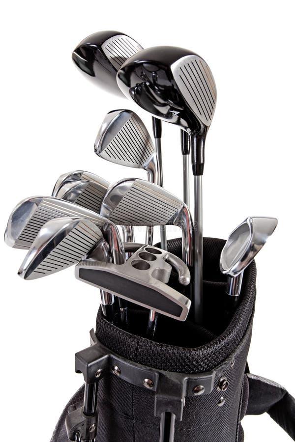 Variété de clubs de golf photo stock