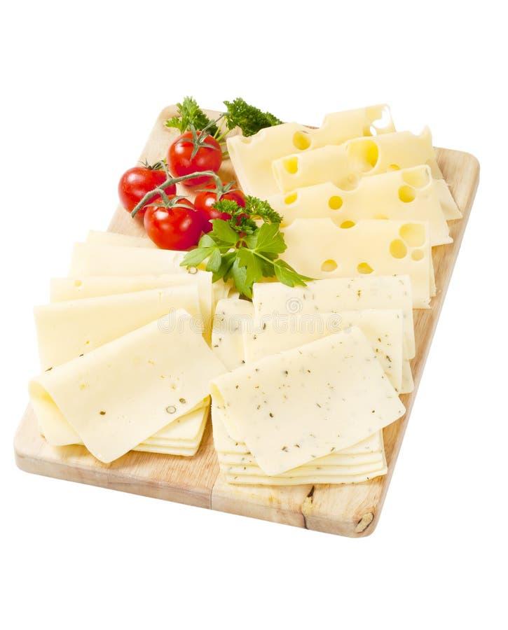 Variété de fromages coupés en tranches photo stock