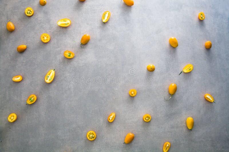Variété de fruits orange image stock