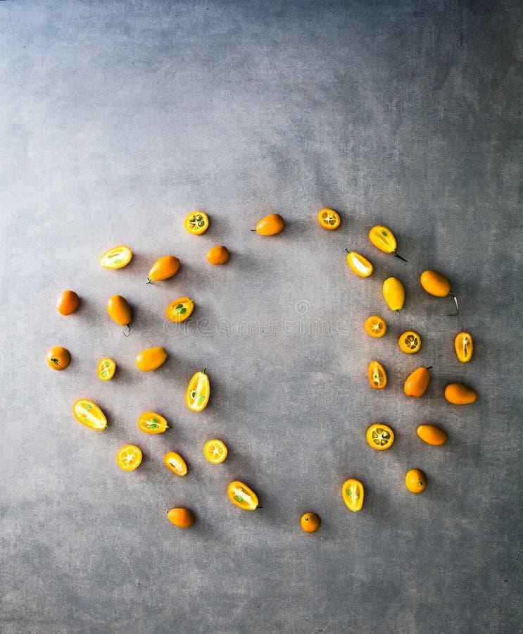Variété de fruits orange images stock