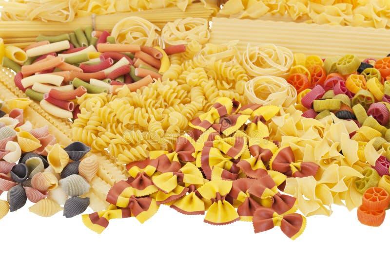 Variété de pâtes image stock
