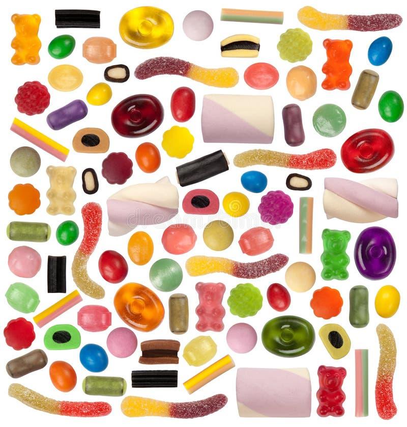 Variété de sucrerie images libres de droits