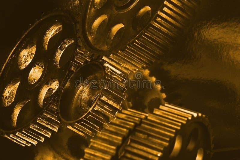 Variété de vitesses d'or image libre de droits
