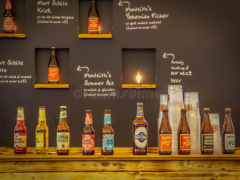 variété du monde de bières de tequila photo stock