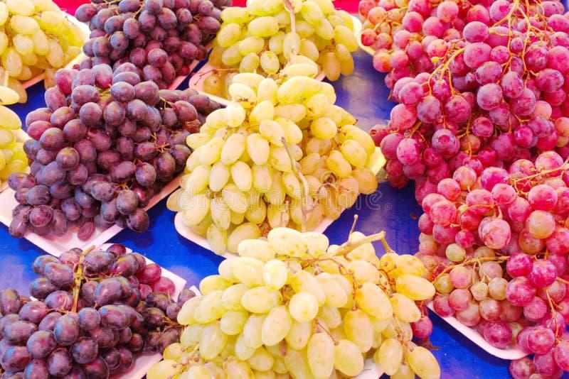 variétés de raisin images stock