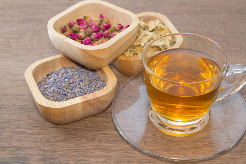 Variétés de thé de fleur images stock