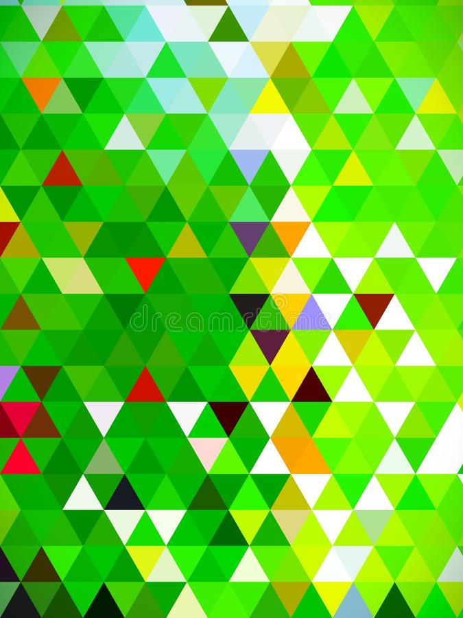Vari colori di triangoli progettati digitalmente in verde royalty illustrazione gratis