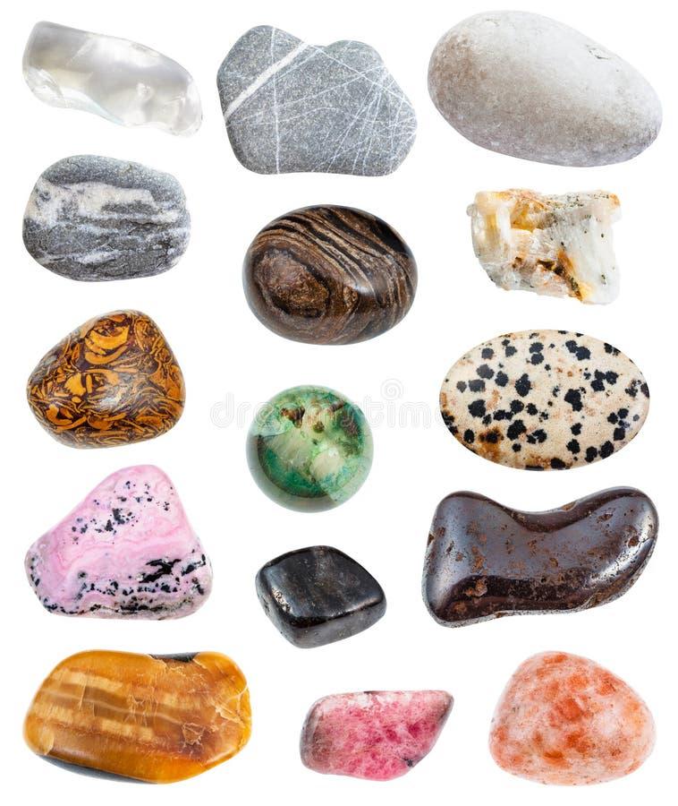 Vari greywacke delle pietre, cristallo di rocca, ecc fotografia stock libera da diritti