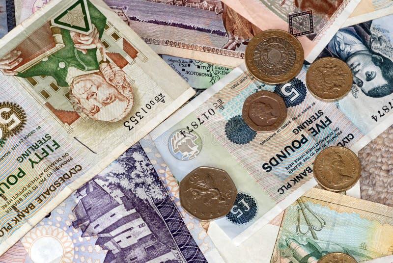 Vari importi delle banconote britanniche   fotografia stock libera da diritti